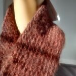 wool cowl in dark brown