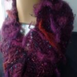 Angora and wool cowl made with my handspun art yarn, this is a fun cowl to wear a comfy warm cowl