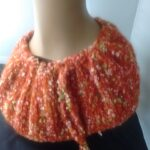 angora merino infinity scarf in burnt orange. www.angoraonline.com