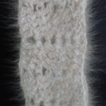100% angora scarf in natural oat color. This scarf is made using my own handspun natural oat color angora