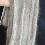 Natural chocolate color angora cowl