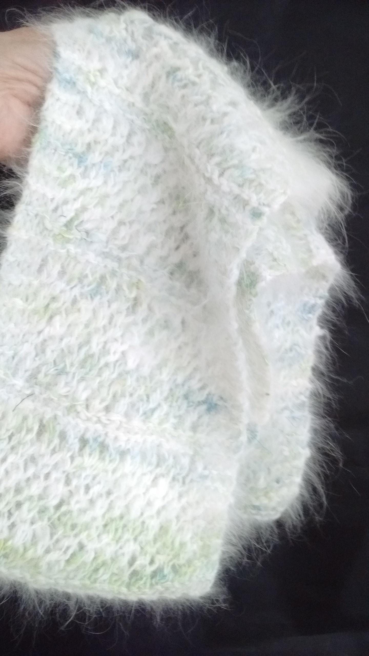 Angora Scarf 100% angora scarf in natural oat