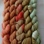 Mini Skeins, Hand dyed Yarn, Sock Weight 4 ply yarn, SW Merino Nylon Yarn