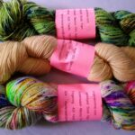 Hand Dyed Sparkle Sock Yarn, 75% Merino 20% Nylon 5% Stellina 435 yd