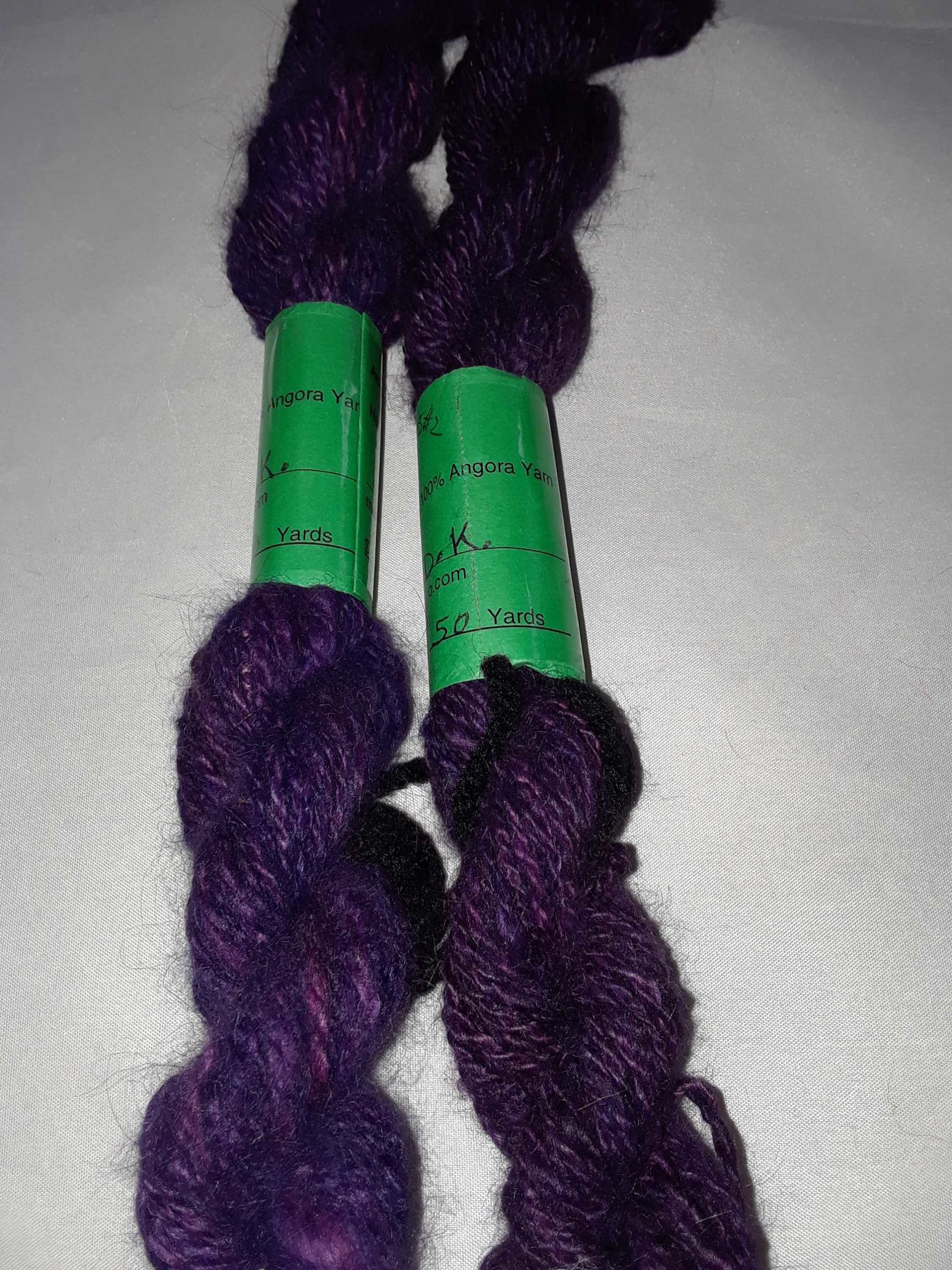 Handpun Angora yarn Hand dyed 100/% Angora Yarn